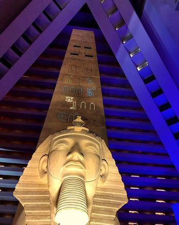 Text Low Angle View Built Structure No People Architecture Indoors  Day Blue Close-up Obelisk Sphinx Atrium Pyramid Vegas