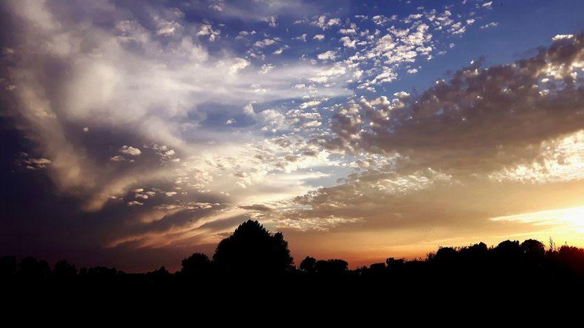 Sunset Magic Magical Moments Dramatic Sky