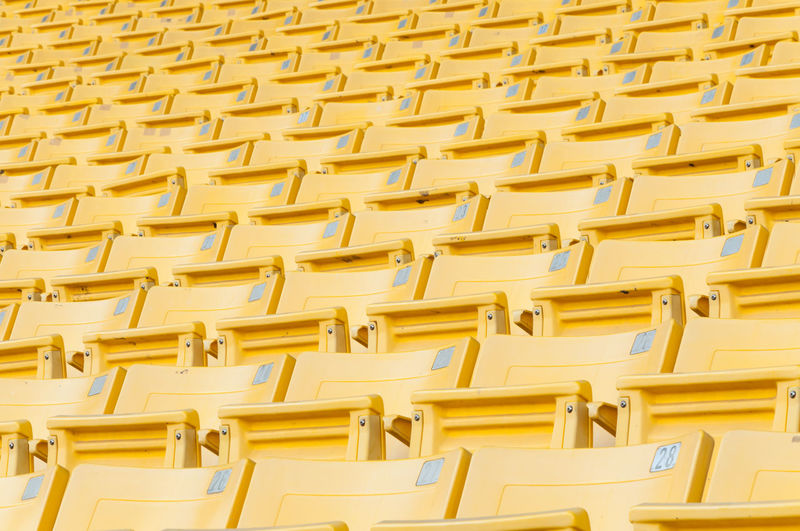 Full frame shot of yellow chairs