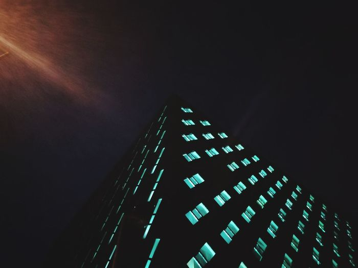 HUAWEI Photo Award: After Dark City Illuminated Skyscraper Pixelated Modern Architecture Building Exterior Sky Built Structure 17.62°