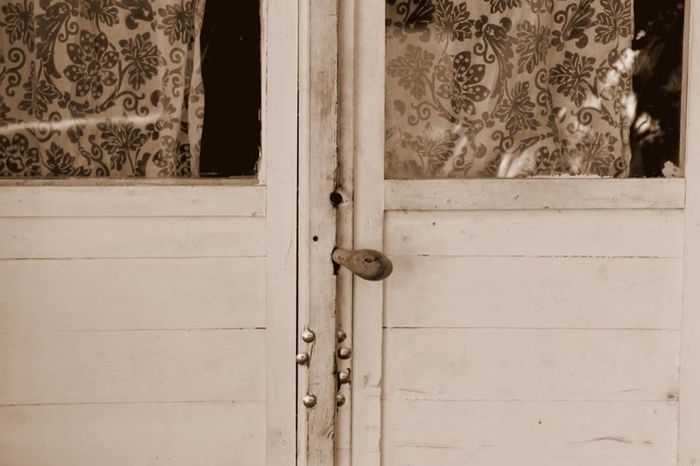 Curtain Door Latch No People Old House