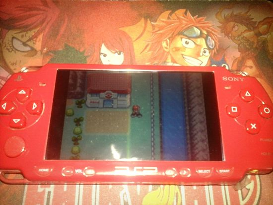Videogame  Pokémon I Love This Game PSP Sony. In My House Playing A Videogame Relaxing Time GBA Emulator