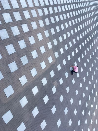 High angle view of a person outdoors