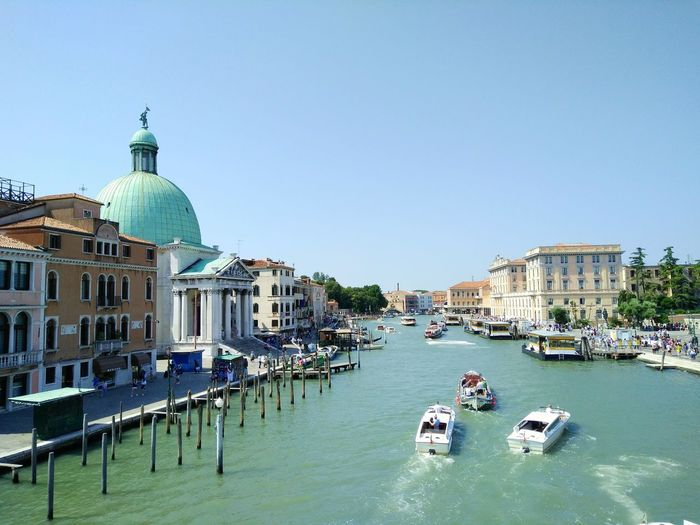 San simeone piccolo by grand canal against clear sky