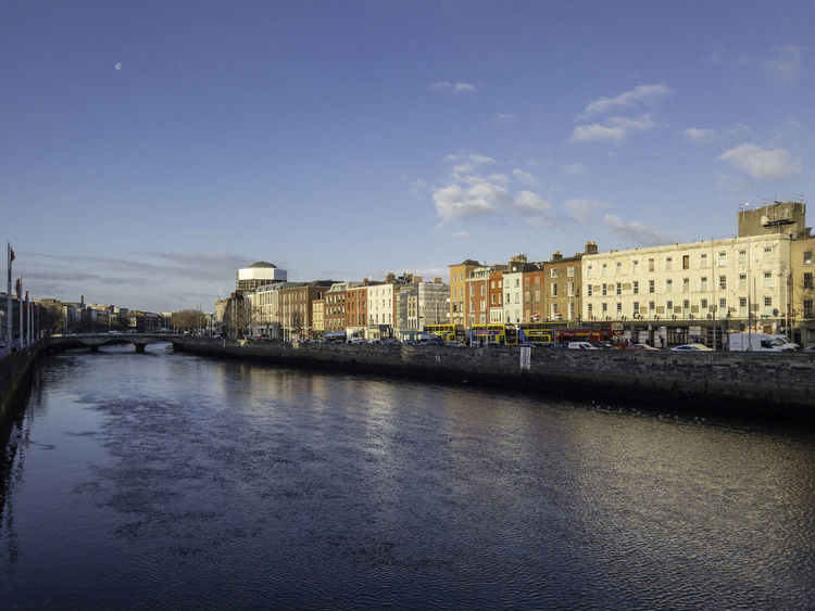 Liffey Dublin Ireland City Cityscape Liffey Outdoors Sky Water