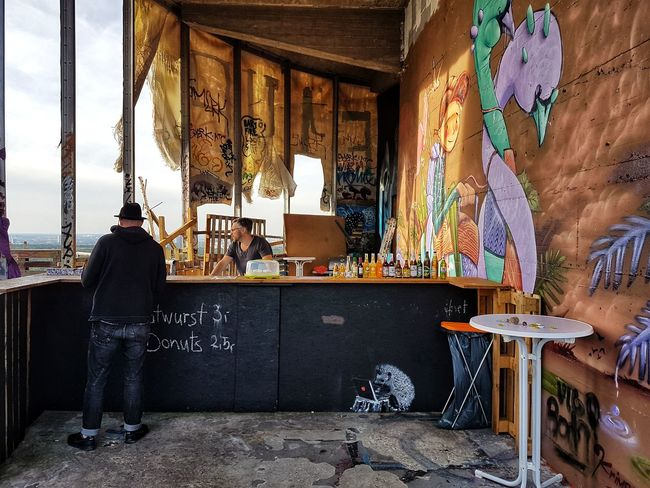 Discover Berlin Teufelsberg Sky Outdoors Lifestyles Bar Multi Colored Barkeeper Business Stories