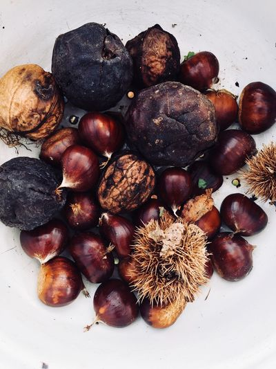Autumn🍁🍁🍁 Autumn Colors Food And Drink Food Nut - Food Healthy Eating Still Life Freshness Walnut Hazelnut Chestnut - Food Fruit No People Close-up