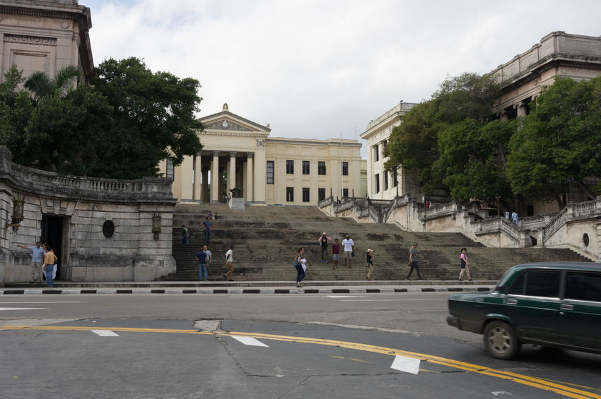 University of Havana (humanities and social science) Adult Adults Only Architecture Building Exterior Built Structure Car City Cuba Cuba Collection Day Outdoors People Sky Tourist Destination Travel Destinations Travelling Photography Tree University