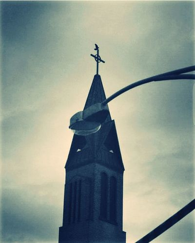 Architecture Religion Built Structure Spirituality Low Angle View Church Cross Cloud - Sky Sky No People
