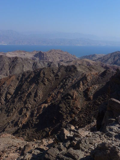 Scenic view of eilat mountains against sky