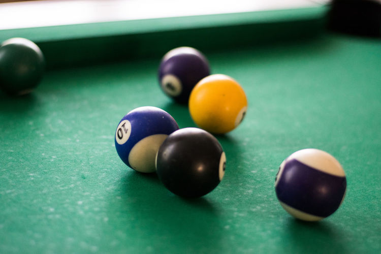 Ball Close-up Competition Cue Ball Day Indoors  Leisure Activity Leisure Games Multi Colored No People Pool - Cue Sport Pool Ball Pool Cue Pool Table Preparation  Snooker Snooker And Pool Snooker Ball Sport Still Life Table