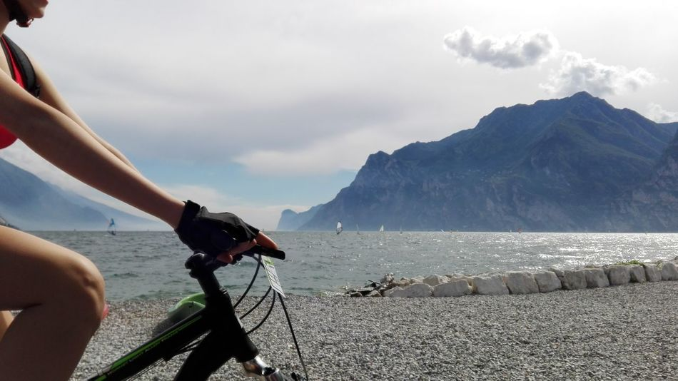 Hello World Enjoying Life The Color Of Sport Montains And Water  Sport Bike Bike Ride Bikes Torbole Lake Italy Torbole Colour Of Life No Filter No Edit Huaweiphotography Montains    Lake Enjoying Life Water_collection
