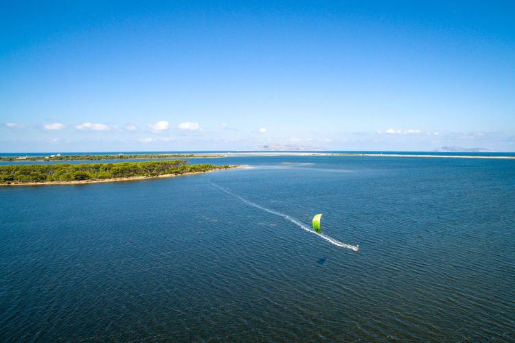 Aerial View Beach Beauty In Nature Boat Kiteboarding Outdoors Sea Travel Destinations