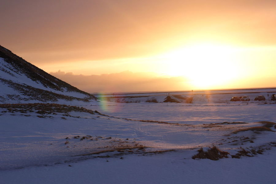 Winter sunset Colour Your Horizn Mountain Sunset Sunset Winter Sunset