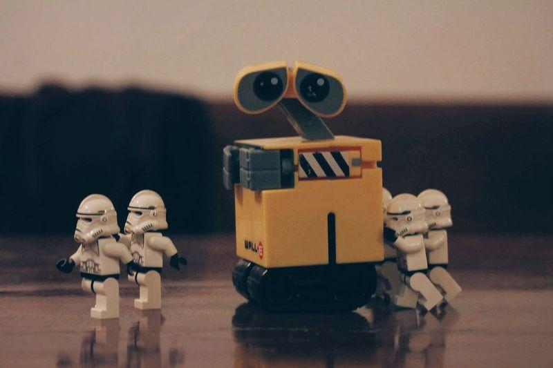 Starwarsphotography Star Wars Star Wars Lego Toy Photography Toyphotography No People Toys Toy Starwarstoypics Star Wars Love Starwarsfigures Starwars Wall-e Wall-ephotography Wall E