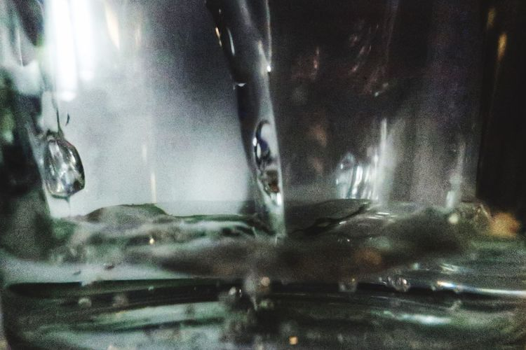 Close-up of water in glass