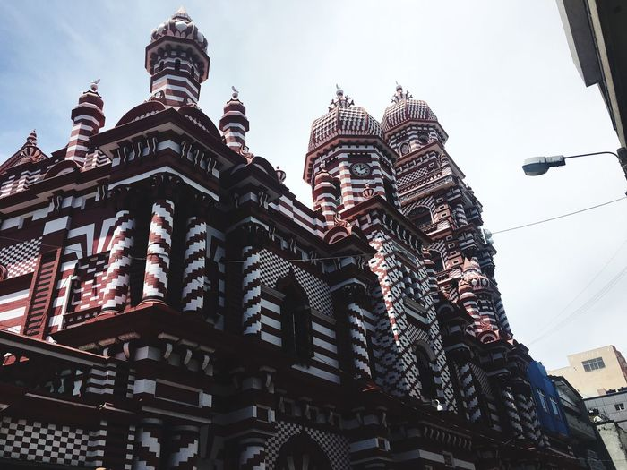 The red mosque in Colombo, Sri Lanka Low Angle View Architecture Building Exterior Built Structure Day Sky Outdoors No People City Islam Muslim Colombo EyeEmNewHere Stories From The City