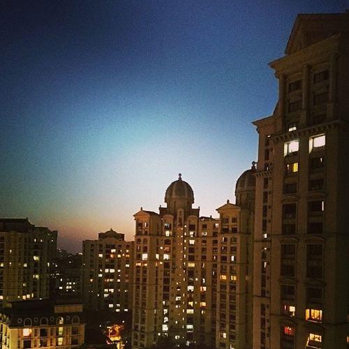 Hiranandani Powai Mumbai India architecture sunset equinox buildings sky InstaMumbai instagood