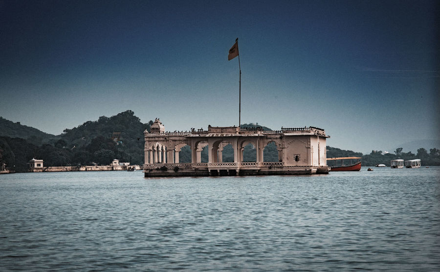 Afloat Beautiful Ocean Going, Udaipur. India Architecture Clear Sky Destination Eyem Gallery Eyem India Indiapictures Littoral Marine Nature Nautical Oceanic Palace Resort Scenics Seaboard Shore Sky Water Waterfront Waterfrontview