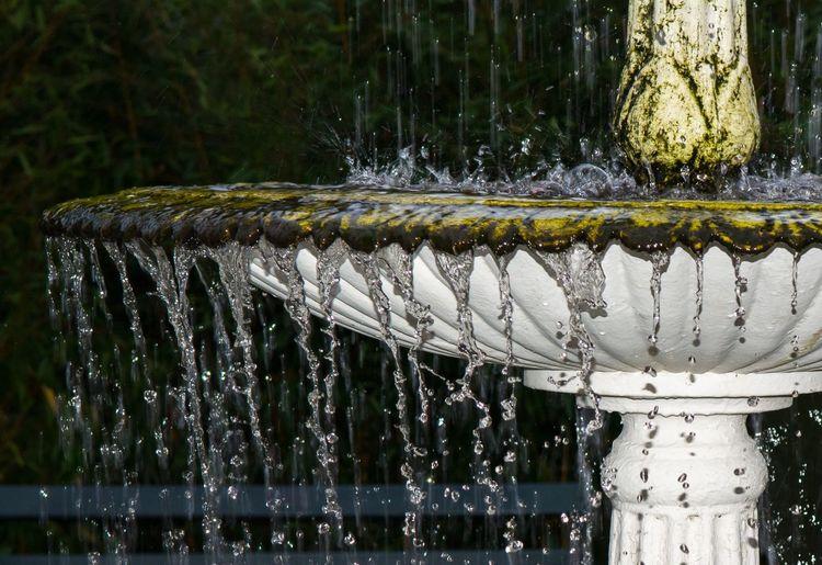 Close-up of water splashing in fountain