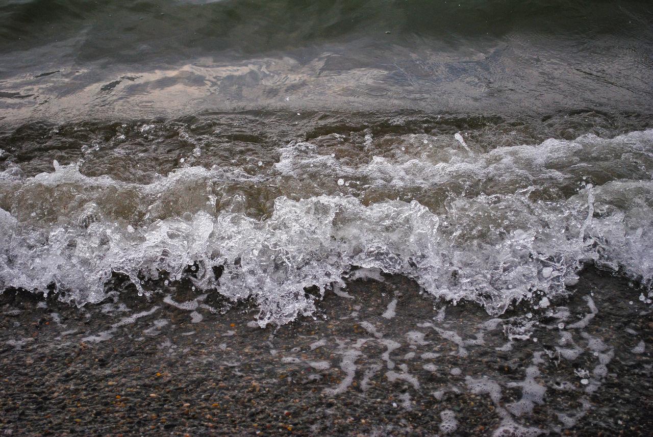 WATER SPLASHING ON SEA