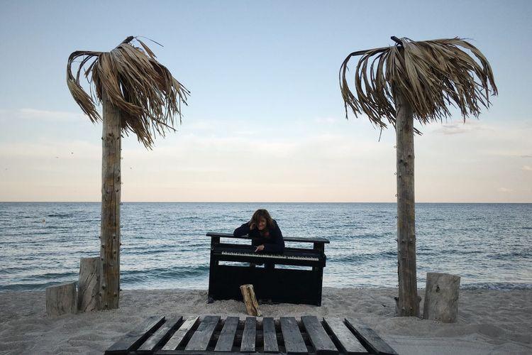 Beach Beauty In Nature Black Sea Black Sea Shore Day Horizon Over Water Human Body Part Nature Odessa Odessa,Ukraine Outdoors Palm Tree Palm Trees Piano Piano Key Piano Keyboard  Piano Keys Piano Lover Piano Time Sea Sky Summer Summertime Water Wisdom