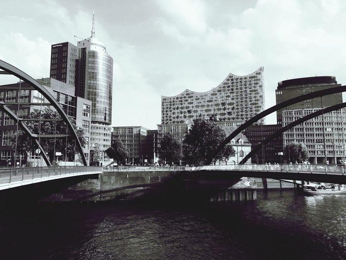 Hamburg Elbphilharmonie 🎵 Modern Architecture Decolorized Speicherstadt HHOME Skyscraper Architecture Building
