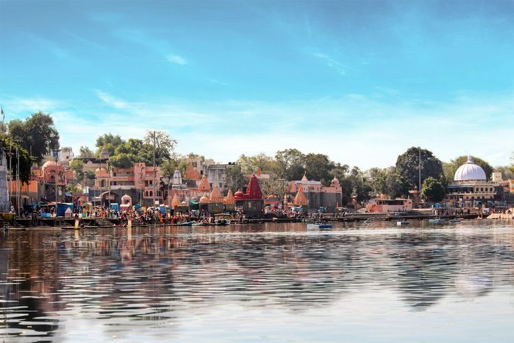 Ujjain- The City Of Temples❤ India EyeEm Selects EyeEm Gallery EyeEmNewHere Eyeemindia Water Cloud - Sky Vacations Reflection Arts Culture And Entertainment Swimming Pool Sky People Day Outdoors