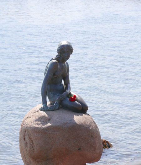 Art And Craft Copenhagen, Denmark Den Lille Havfrue Scandinavia Sightseeing Statue Art And Craft Craft Creativity Day Famous Place Famous Places Human Representation Male Likeness Nature No People Representation Rock Rock - Object Sculpture Sea Solid Statue Travel Destinations Water
