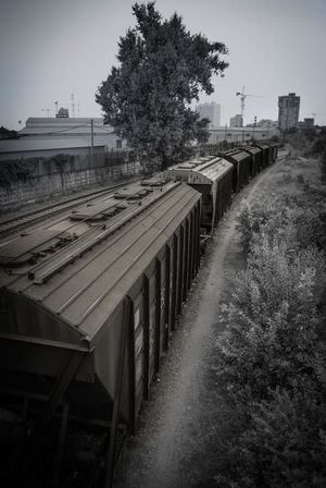 Day Freight Cars Freighttrain No People Outdoors Rail Transportation Railtracks Railtrackswitch Sky Train Train Tracks Tree