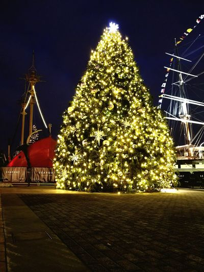 Pier 17 Pier 17  South Street Seaport Manhattan New York City Christmas Tree Christmas Christmas Decoration Night Christmas Lights Tree No People Celebration Winter EyeEm Ready