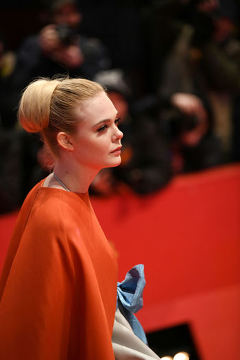 Berlin, Germany - February 15, 2018: American actress Elle Fanning on the red carpet at the 68th Berlinale International Film Festival premiere of the movie Isle Of Dogs Actors Event Fashion Film Festival Premiere Actress Arts Arts Culture And Entertainment Berlinale Berlinale 2018 Berlinale Festival Berlinale2018 Blond Hair Elle Fanning Entertainment Entertainment Event Fashion Model Leisure Activity One Person People Red Carpet Standing Star Testimonial Young Adult