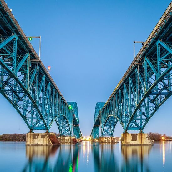 This photo is currently in the running for the Viewer's Choice Award for the American Society of Civil Engineers 2015 Bridge Photo Contest. Please vote of you're on Facebook http://woobox.com/qcjpp4/vote/for/6328834 Grandisland Buffalo Buffalony Reflection Bridge Longexposure POTD Photooftheday Leadinglines Blue Symmetry