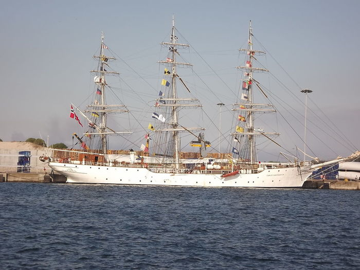 Boat Clear Sky Day Ilhavo Mode Of Transport Multi Colored Outdoors Portugal Sailing Sailing Ship Scenics Sea Sea And Sky Ship Sky Tall Ship Transportation Water No Filter, No Edit, Just Photography
