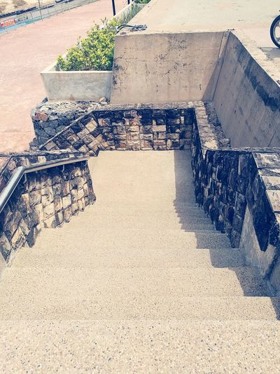 High Angle View Sunlight Day Outdoors Step Malaysia Staircase