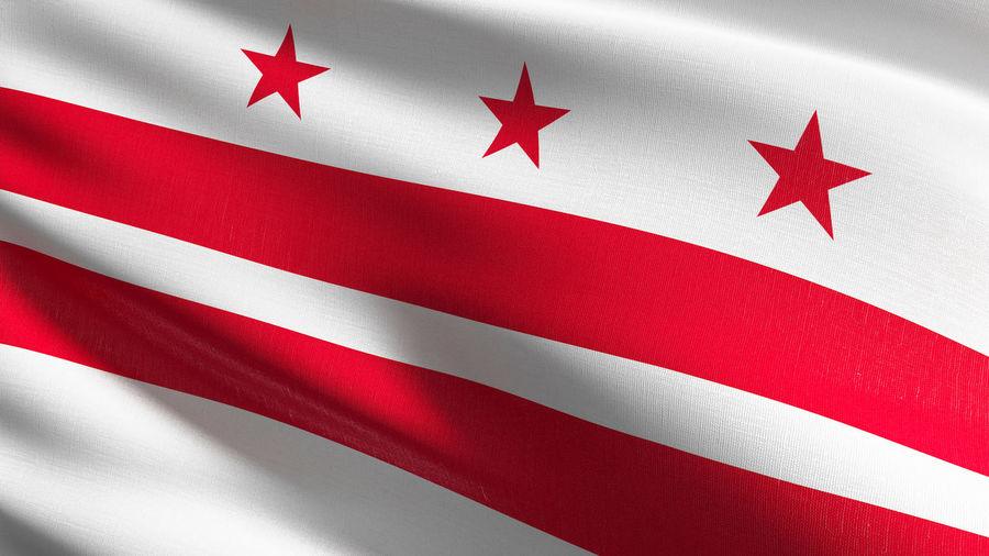 Full frame shot of washington dc flag