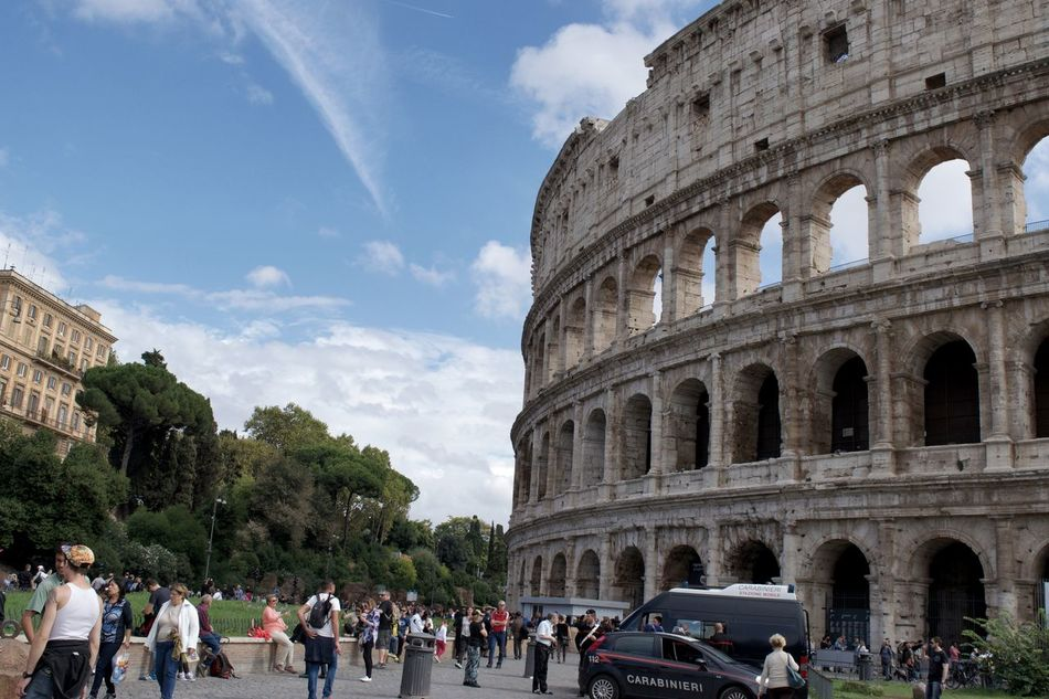 Adult Architecture Beautiful Rome City Cloud - Sky Colosseum Crowd Day History Landmark Large Group Of People Outdoors People Places You Must To See Rome Sky Tourism Tourist Travel Travel Destinations Vacations Visit Moving Around Rome