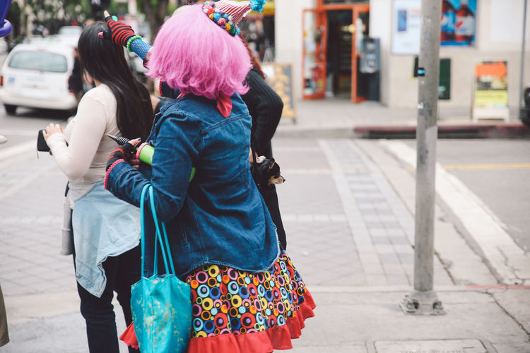 Architecture California City Colored Hair Hollywood Tourist Attraction  Clown Costume Street Tourist Destination California Dreamin