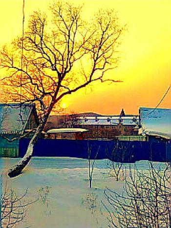 закат на курорте Шмаковка