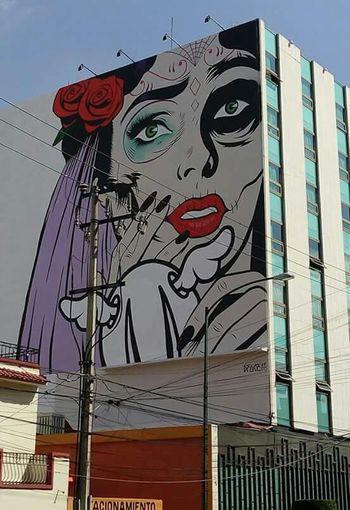 Esto Es Mexico Dando El Rol Hello World La Catrina  Graffiti Art Dface en Ciudad De México ...