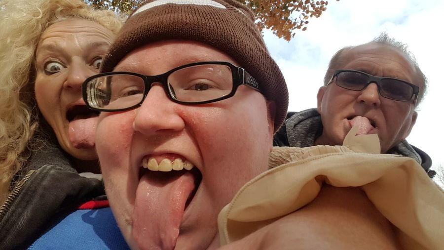 Enjoy The New Normal my tongue is your tongue is his tongue! Sunglasses Togetherness Portrait Carefree Mouth Open Headshot Adult Looking At Camera Human Mouth People Friendship Women Young Adult Adults Only Blond Hair Outdoors Close-up Day Men Young Women Uniqueness
