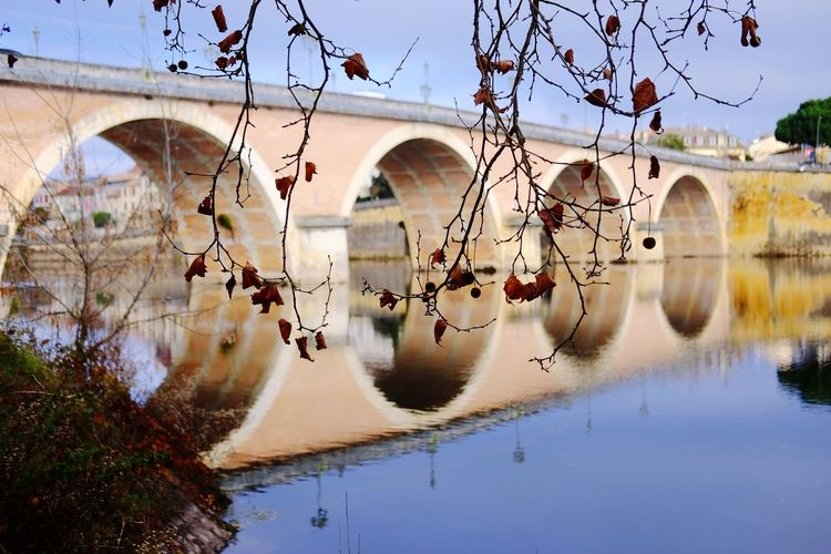 EyeEm Best Shots EyeEm Selects Reflection Water Bridge - Man Made Structure River Architecture Arch Sky Nature Outdoors Built Structure No People Transportation Connection Nautical Vessel Waterfront Day Tree