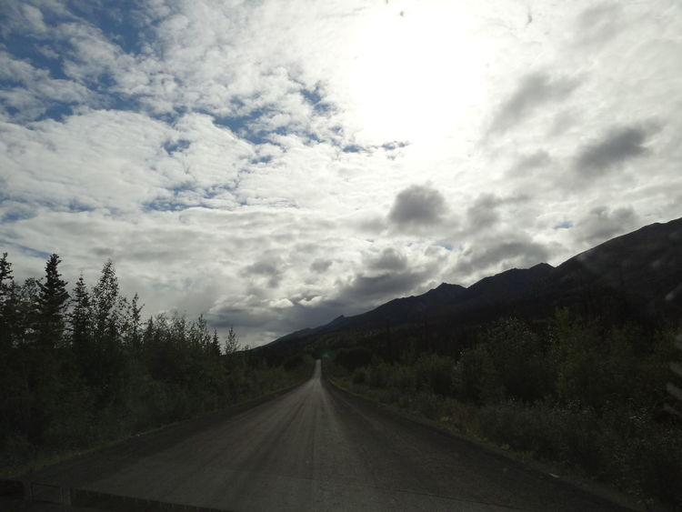 Beauty In Nature Canada Cloud - Sky Day Dempster Highway Landscape Mountain Nature No People Outdoors Road Scenics Sky The Way Forward Tombstone Territorial Park Transportation Tree Yukon