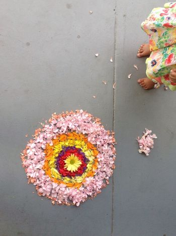 Onam pookalam Beneath Your Feet EyeEm Best Shots Floortraits Holiday POV How You Celebrate Holidays