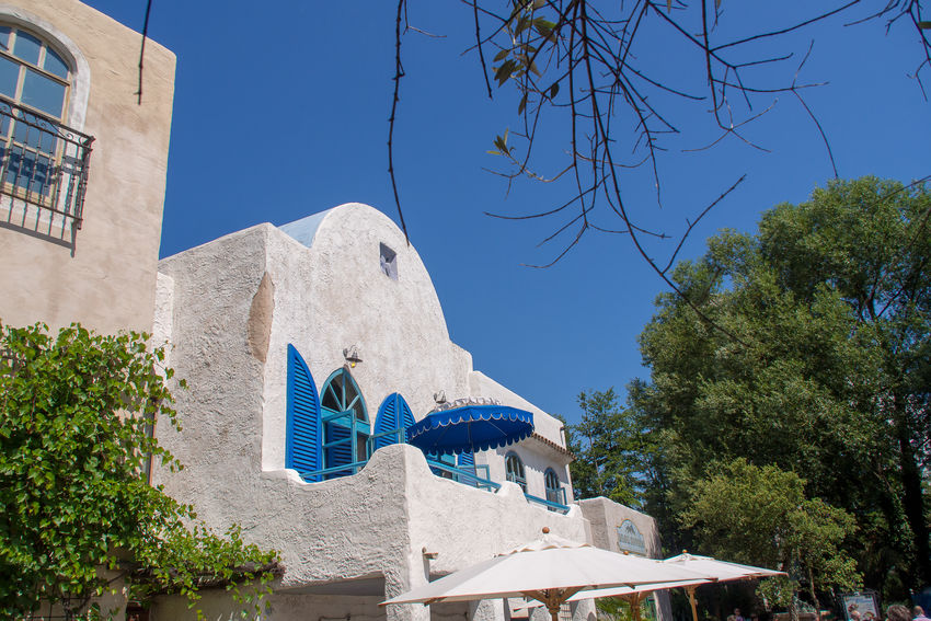 Greek Greek Buildings Marierichphotography Olympus Architecture Blu Sky Blue Blue Sky Building Exterior Built Structure Clear Sky Day Europapark Low Angle View No People Outdoors Place Of Worship Religion Spirituality Travel Destinations