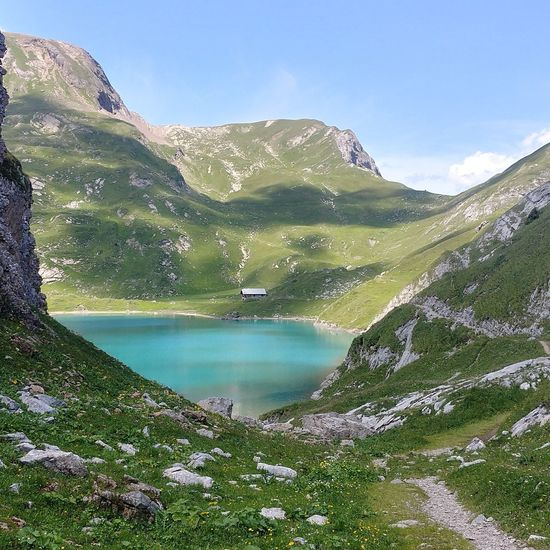 Mountain Water Nature Outdoors No People Beauty In Nature Mountain Range Day Tree Scenics Sky Schweiz 🇨🇭, Simmental Nature Berner Oberland Lenk Beauty In Nature Switzerland Alps Landscape Tranquility Lenk