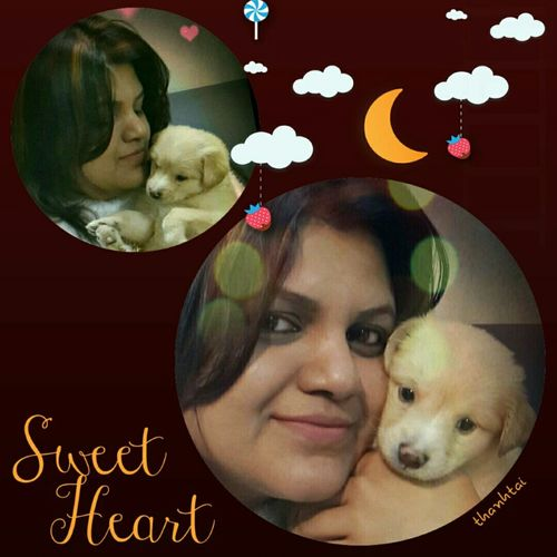 My Family and My Cute Pet Lucky Enjoying Life