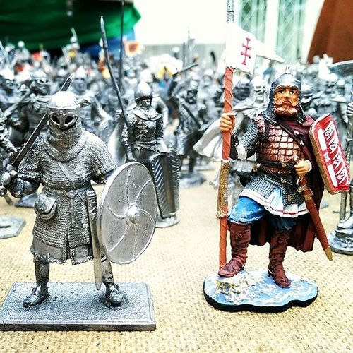 Tin Statues Army of Ancient Lithuania Created with Reference to Archeological Discoveries of Ldk
