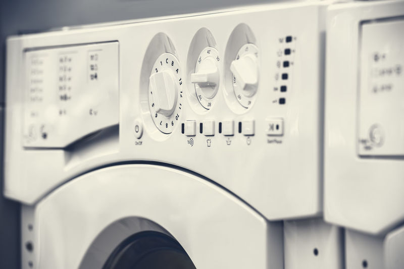 Close-up of washing machine