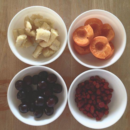 Food Fruits Cherries Banana Strawberries Healthy Healthy Food Delicious Table Snack